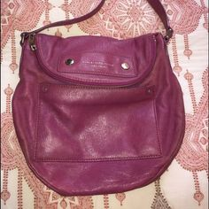 Marc by Marc Jacobs Pink Crossbody Fashion forward Marc by Marc Jacobs cross body Pink leather bag. Gently worn, as leather wears it does have faint discoloration. All visible in photos. Marc by Marc Jacobs Bags Crossbody Bags