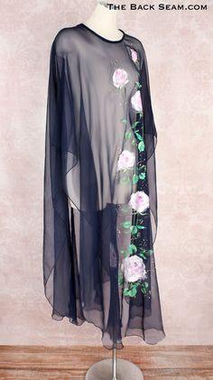 The Back Seam - 1970s Sheer Blue Bohemian Stevie Nicks Style Vintage Dress, $119.00 (http://www.thebackseam.com/1970s-sheer-blue-bohemian-stevie-nicks-style-vintage-dress/)