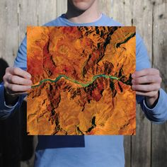 Grand Canyon National Park Print from City Prints Map Art! Abstract Satellite Images of Adventure Destinations: Many of our biggest adventures are found beyond the walls and concrete that surround us. This series is for those most comfortable off the beaten path.