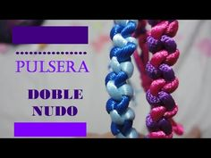 PULSERA: DOBLE NUDO COLA DE RATON SUPER FACIL/YERA - YouTube