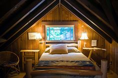 Attic rooms :-)  When I get a house it's got to have an attic room.