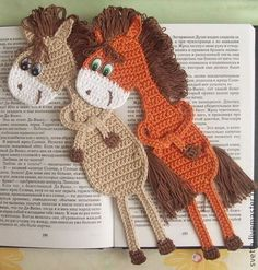 Bookmark horse crochet pattern by Zabelina Amigurumi LittleOwlsHut: