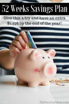 52 Weeks Savings Plan Give this a try and have an extra 1378 by the end of the year via The Survival Mom Survival Food, Emergency Preparedness, Survival Skills, Survival Stuff, Urban Survival, Survival Tips, 52 Week Savings, Savings Plan, Savings Challenge