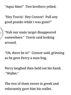 Can't get enough of Connor and Travis! And they would have put the target on Percy's back I think