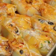 dinner, cook, chicken stuf, drink, cheesy mexican stuffed shells, stuf shell, enchilada stuf, yummi recip, comfort foods