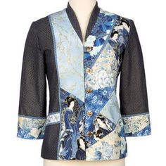 Picture of jacket kit available at Nancy's Notions, made with the Brensan Studio's Yin Yang jacket pattern.