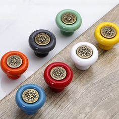 kitchen cabinet knobs pulls 232 best ceramic handles images dresser colorful drawer blue red green gray orange yellow