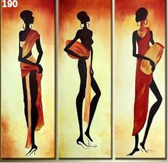 FRAMED 3 PIECE AFRICAN WOMEN WALL ART! CANVAS SET SALE FREE SHIPPING – YOUR ART & DECOR