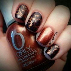 I am unfolding before you 15 + cute & easy fall nail art designs, ideas, trends & stickers of Try out these autumn nails this season and grab compliments Fall Nail Art Designs, Cute Nail Designs, Fingernail Designs, Awesome Designs, Pretty Designs, Autumn Nails, Winter Nails, Fancy Nails, Love Nails