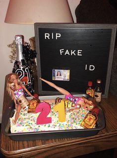 21st Birthday Cakes, Diy Birthday, Happy Birthday, 21st Birthday Decorations, Birthday Ideas, 21st Bday Ideas, 21st Birthday Checklist, Shot Book, Photos Bff
