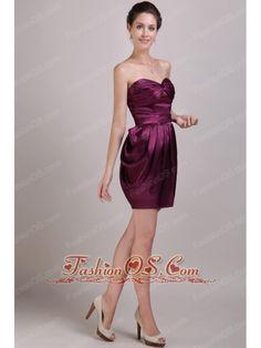 New Dark Purple Prom Dress Empire Sweetheart Chiffon Beading Floor ...