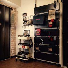 LACROWAさんの、IKEA,ニトリ,セリア,工具,エアプランツ,ステンシル,スナップオン,壁紙(レンガ)についての部屋写真