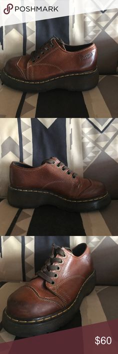 Dr. Martens Stitching is perfect, Leather is gently worn on the toes. Style was a limited edition and not sold any more. Dr. Martens Shoes Combat & Moto Boots