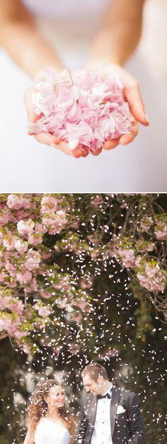 Inspirationssonntag: Blütenregen zur Hochzeit