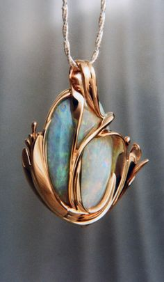 Opal Pendant Art Nouveau by Martha Jean Sandy Crocker Opal Jewelry, Jewelry Art, Antique Jewelry, Vintage Jewelry, Jewelry Accessories, Jewelry Necklaces, Jewelry Design, Jewlery, Jewelry Ideas
