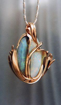 Opal Pendant Art Nouveau