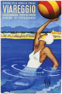 By Riviera della Versilia, 1 9 3 0, Viareggio, Italy.