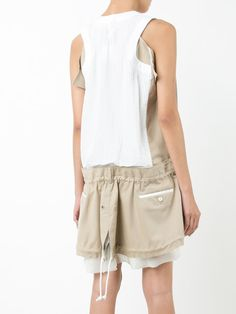 Sacai sleeveless trench dress