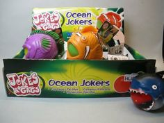 Ocean Jokers Squeezable Gag Toy (SIX) by China. $10.95. Colors and styles may vary.. Squeeze the fish and see what its eats!!. Six Ocean Joker Gag Toys