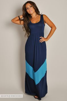 9df95467a347 Cute Sleeveless Navy Empire Waist Maxi Dress