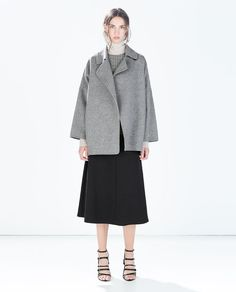 Image 1 of HAND MADE DOUBLE-BREASTED COAT from Zara
