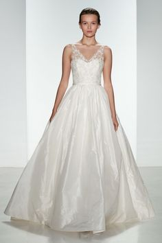 Taffeta ballgown with hand beaded bodice available in Ivory.