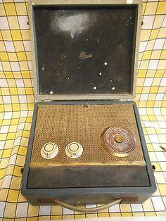 Vintage-Marconi-Transistor-Radio-T82B-Blue-Grey-Spares-or-Repairs