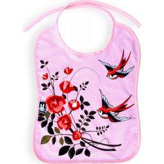 Six Bunnies - Roses & Birds Bib -