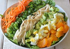 Asian-Style Cobb Salad - This salad serves as the perfect light meal, full of protein and veggies with a simple sesame vinaigrette.