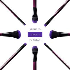 UP TO 50% OFF & REDUCED TO CLEAR!  Our Purple Power Set is having a makeover, so we have reduced the existing stock to clear to make way for the new set with a few changes!  Shop USA: http://furlesscosmetics.com/on-sale/ Shop Australia: http://furlesscosmetics.com.au/cruelty-free-cosmetics/vegan/44-makeup-brushes-cosmetics-sale