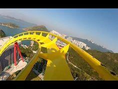 Hair Raiser Roller Coaster POV Ocean Park Hong Kong B Floorless On-Ride