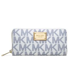 Michael Michael Kors Mk Logo Zip Around Continental Wallet