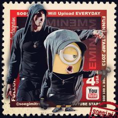 I'm pinning this for two reasons I LOVE Eminem and I like minions! Lol