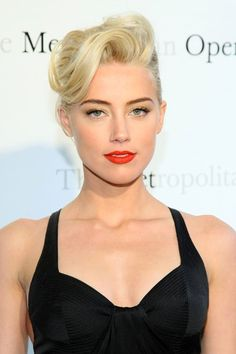 Amber Heard Shows Off a Trick to Making Sure Your French Twist Doesn't Look Like the Hair Choice of an Evil Movie Villain - Hair Styles | Hair Color | Hair Cut