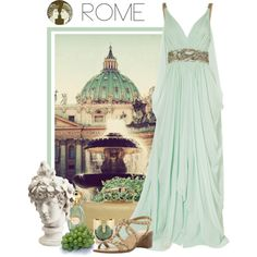 Rome by weeyz on Polyvore featuring Marchesa, Bertie, Tory Burch, Annick Goutal, Alexander McQueen and Thomaspaul