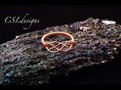 Celtic knot wirework ring - YouTube