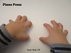Piano Press! Heavy Work finger games to warm up! Your Kids OT