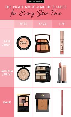 The Right Nude Makeup Shades for Every Skin Tone