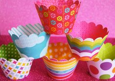 Summer FUN Cupcake Wrappers by CupcakeSocial on Etsy