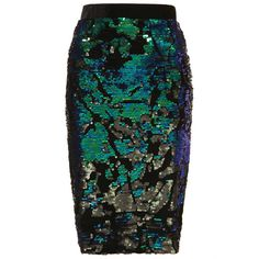 TOPSHOP Velvet Sequin Pencil Skirt ($40) ❤ liked on Polyvore featuring skirts, bottoms, green, pencil skirt, black, sequin pencil skirt, topshop skirts, black knee length skirt, black knee length pencil skirt and green skirt