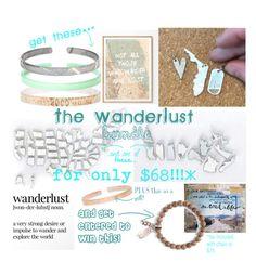 """WanderLust Bundle"" by kaliedacolor ❤ liked on Polyvore featuring Coffee Shop, mint, wanderlust, cbastyle, cbacarefreebracelet and cbamapskinny"