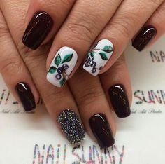 Brown white nails