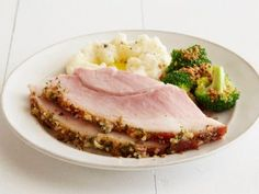 Our best easter recipes glazed cracker and glaze double mustard and herb crusted ham ham recipes food networkpork forumfinder