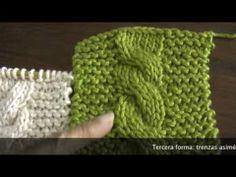 Dos agujas: trenza (cuerda) básica Knitting Videos, Crochet Videos, Knitting Stitches, Knitting Patterns Free, Free Knitting, Crochet Cocoon, Chunky Crochet, Crochet Baby, Knit Crochet