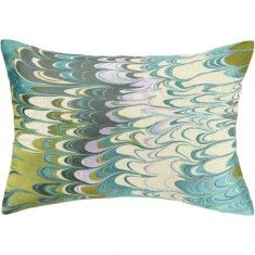 D.L. Rhein Marbled Madness Pillow-Lilac/Lime