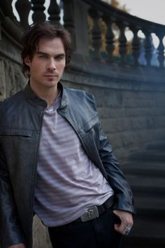 Damon Salvatore ♥ Vampire Diaries... Ok I stole this from my bestie... he has captured my heart for sure!