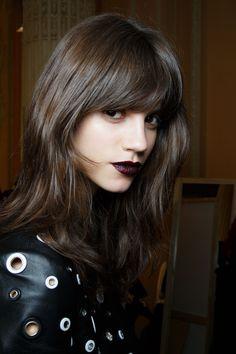 { Antonina Petkovic backstage at Emanuel Ungaro Fall 2015 RTW. Hair color. }