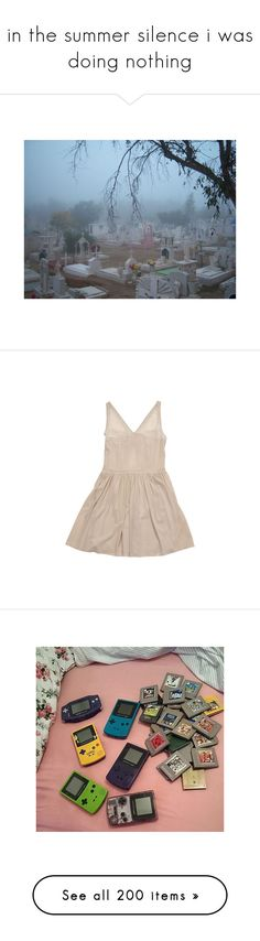"""in the summer silence i was doing nothing"" by haomind ❤ liked on Polyvore featuring dresses, mesh dress, pink chiffon dresses, v neck dress, studded dress, pink v neck dress, beauty products, nail care, nail polish and nails"