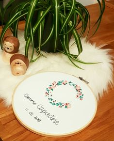 Table Decorations, Home Decor, Words, Embroidery, Decoration Home, Room Decor, Dinner Table Decorations, Interior Decorating