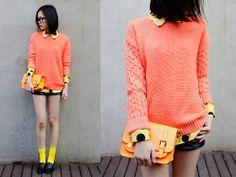 pinky-orange  (by IAN CHEN) http://lookbook.nu/look/4651787-pinky-orange